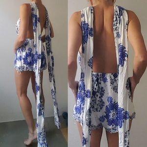03a753697082 LF Pants - Nwot LF one way French china multi romper dress 6